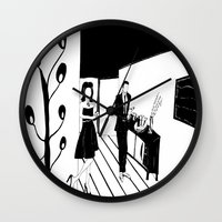 cocktail Wall Clocks featuring COCKTAIL by Pelotica Monroe