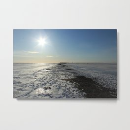 Frozen Sea in a Cold Winter Day Metal Print