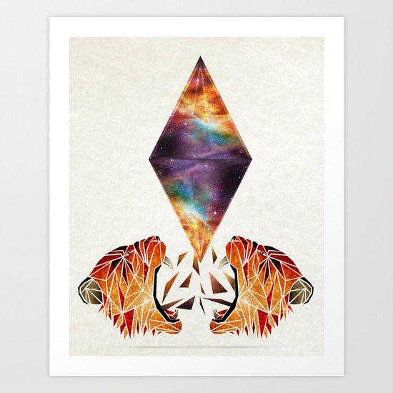 cosmos tiger Art Print