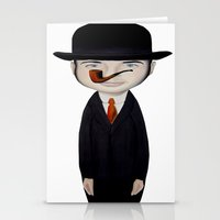 magritte Stationery Cards featuring omaggio a Magritte by beatrice alegiani