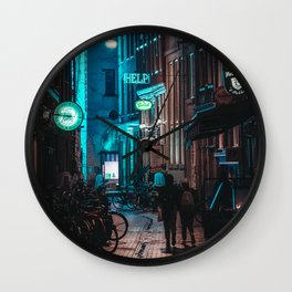 Lost in Town Wall Clock