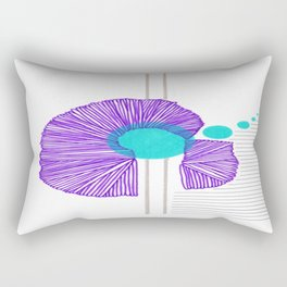 Purple, Light Aqua, French Grey, and Black Abstract 1 Rectangular Pillow