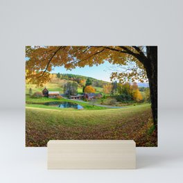 Sleepy Hollow Farm Woodstock  Vermont USA Mini Art Print