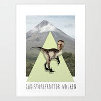 christopher walken Art Prints featuring Christopher Walken by Kalynn Burke