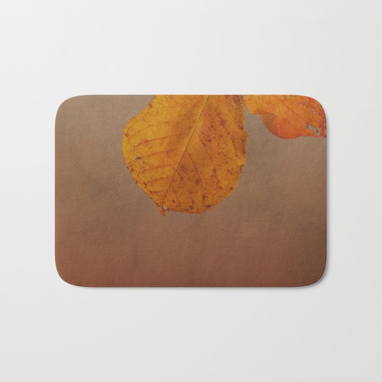 Fall leaves of an Apple tree Bath Mat