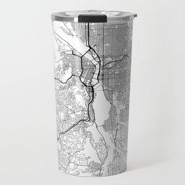 Minimal City Maps - Map Of Portland, Oregon, United States Travel Mug