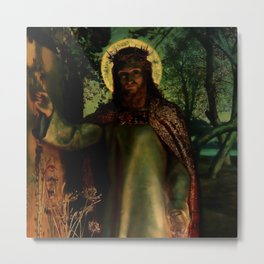 "William Holman Hunt ""The Light of the World"" Metal Print"