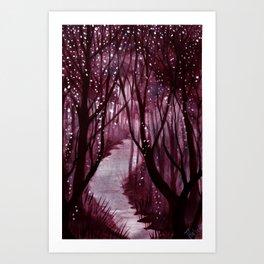 Purple Woos Art Print