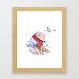 Christmas bear #2 Framed Art Print
