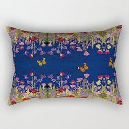 Neon Maximalist Garden Rectangular Pillow