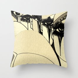 PIERROT MULTIPLE CLOWNS,,HOUSE OF HARLEQUIN Throw Pillow