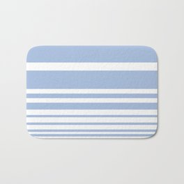 Scandi Pastel Cornflower Stripes Bath Mat