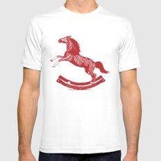 Rocking Horse Mens Fitted Tee MEDIUM White