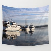 friday Wall Tapestries featuring Friday Harbor by Laura Holicky