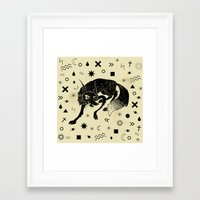 wolf Framed Art Prints featuring Wolf by Anya Volk