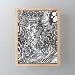Black Garden Framed Mini Art Print