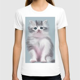 Cute Grey Kitten T-shirt