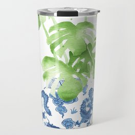 Ginger Jar + Monstera Travel Mug