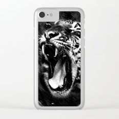 Tiger Head Wildlife Clear iPhone Case