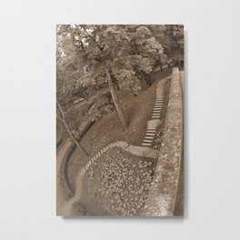Twisted Path (Sepia) Metal Print