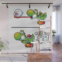 Farting Yoshi Green Wall Mural
