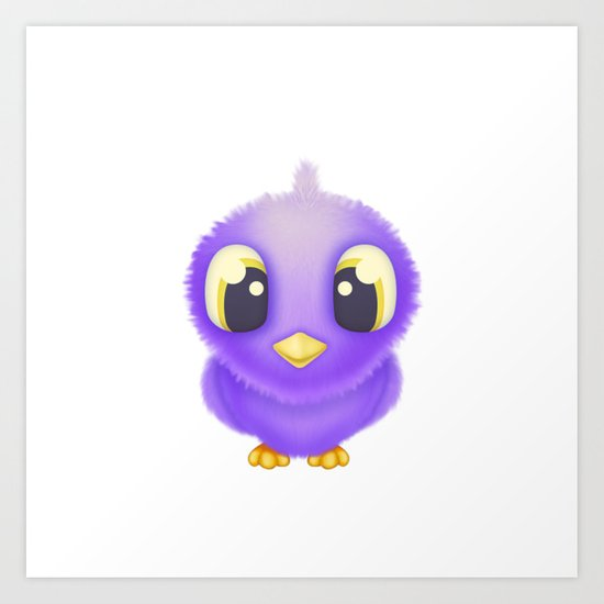 Fuzzy Bird Art Print