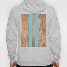 Wood Grain Stripes - Light Blue #807 Hoody