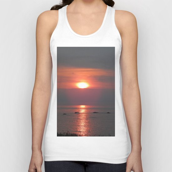 Ste-Anne-Des-Monts Sunset on the Sea Unisex Tank Top