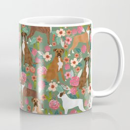 Boxer mixed coats dog breed florals pet gifts for boxers pupper must haves Coffee Mug