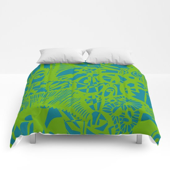 INK#7 Dream in Green Comforters