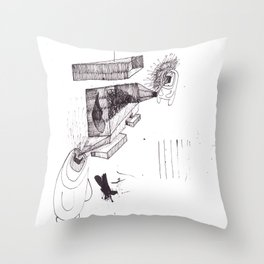 two brothers. Scream and Shout. Throw Pillow