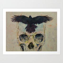 Black Crow Art Print
