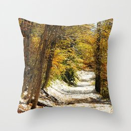 The First Snow Throw Pillow