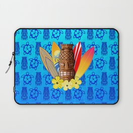 Surfboards And Tiki Mask Laptop Sleeve