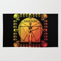 leonardo dicaprio Area & Throw Rugs featuring Leonardo Guitar by kuuma