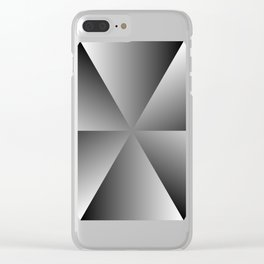 Metal Hexagon Clear iPhone Case