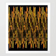 vertical brush orange version Art Print