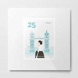 Stamp : Cities #6 - London Metal Print