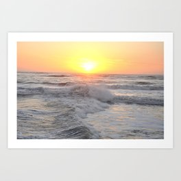 Sunrise after the storm Art Print
