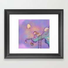 Up on the treetop 3 dark version Framed Art Print