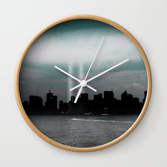 Renewal - New York City skyline Wall Clock