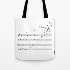 Natural Musical Notes Tote Bag