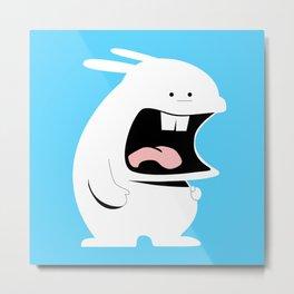 Screaming Rabbit Metal Print