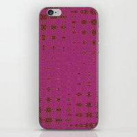 hot pink iPhone & iPod Skins featuring Hot Pink by Dorothy Pinder