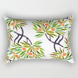 Bonsai Tree – Orange Fruit Rectangular Pillow