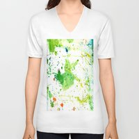 atlas V-neck T-shirts featuring atlas by agnes Trachet