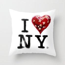 Banksy * I Love New York Throw Pillow