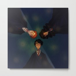 the golden trio Metal Print