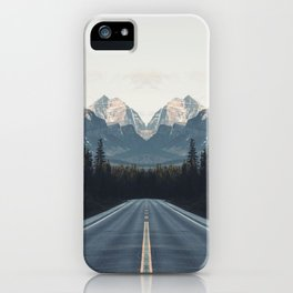 Mountain Twins iPhone Case