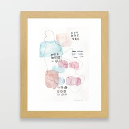 180805 Subtle Confidence 16| Colorful Abstract |Modern Watercolor Art Framed Art Print